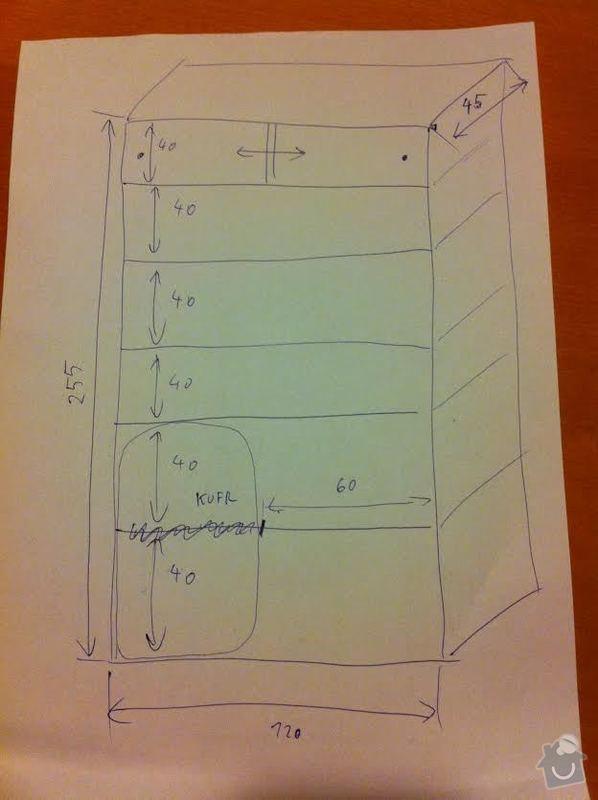 Police bez i s šoupacími dveřmi: navrh