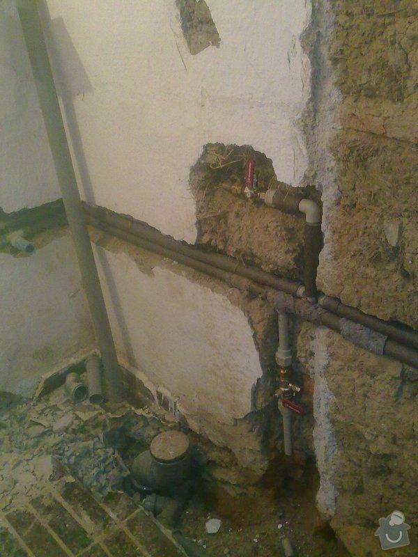 Rekonstrukce koupelny v chalupě: podzim_2014_prace_009