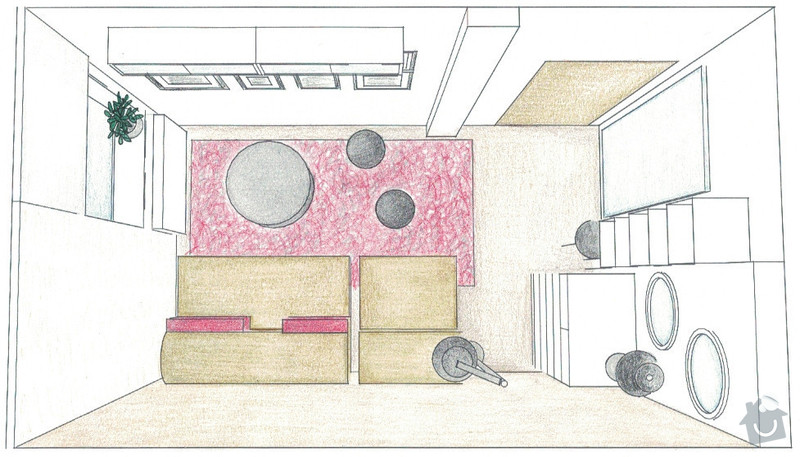 Zařízení obývacího pokoje: 03-navrh