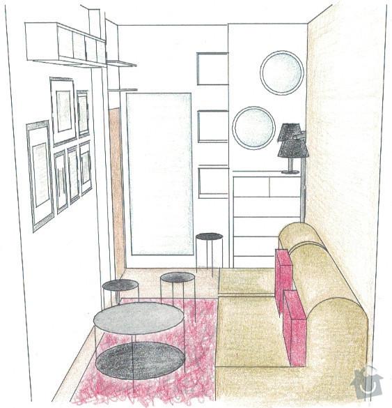 Zařízení obývacího pokoje: 04-navrh