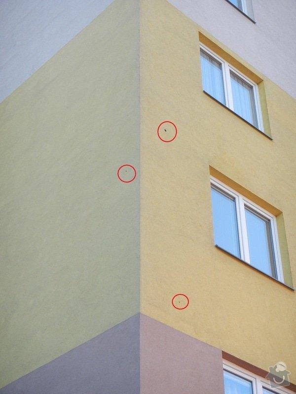 Opravu tří děr ve fasádě: Fasada