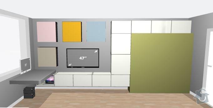Instalace skříněk na panelovou zeď: 1
