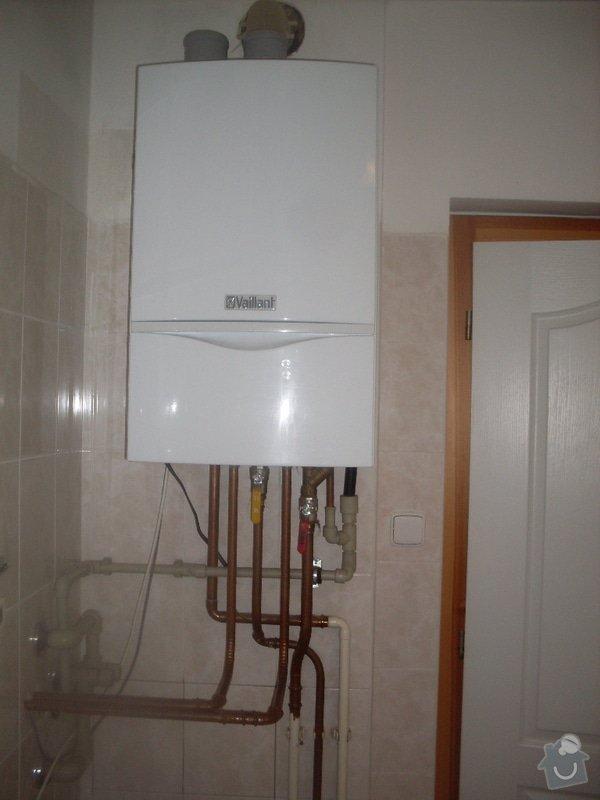 Realizace sprcch. kout,solární ohřev tuv, výměna stavajcího kotle plyn za kondenzační, realizace podlahového vytápění: SDC10422