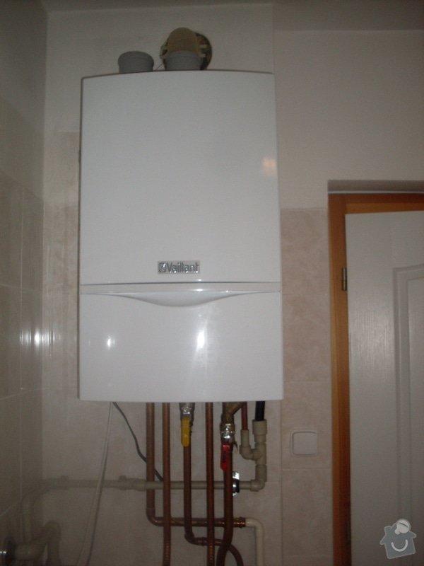 Realizace sprcch. kout,solární ohřev tuv, výměna stavajcího kotle plyn za kondenzační, realizace podlahového vytápění: SDC10421