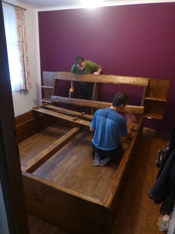 Manželská postel z masivu: P1060525