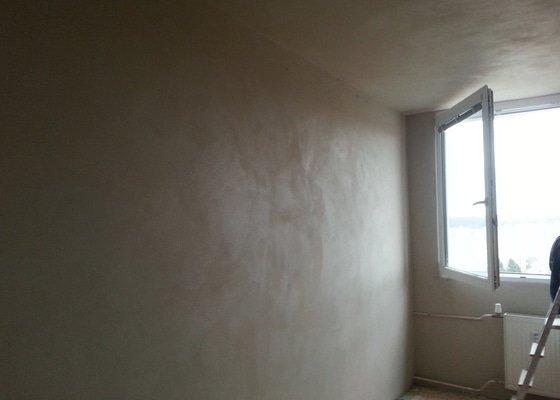 Zdi, stropy - sundat starý nátěr, perlinka a štuk