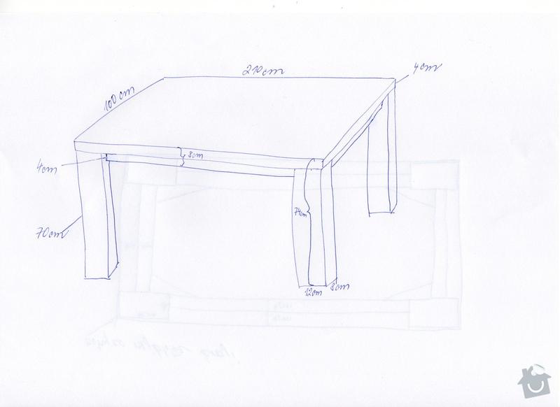 Dubový jídelní stůl: img032