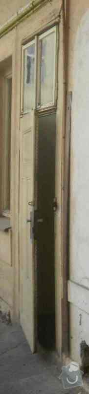 Oprava + nátěr oken, dveří: P6090335