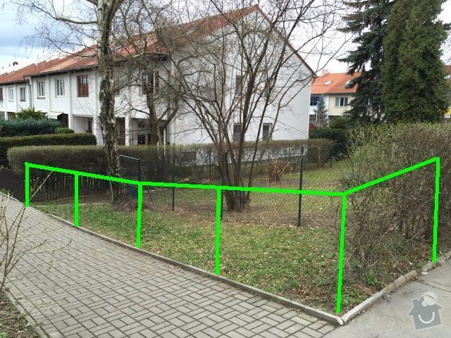Oprava podbití, oprava vstupu do šachty,posunutí drátěného plotu: Plot2