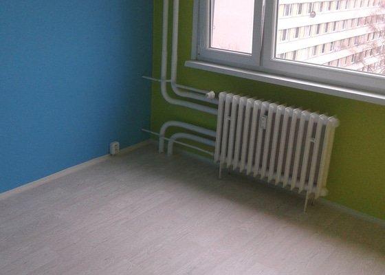 Malířské práce (1 pokoj), pokládka lina 10m2