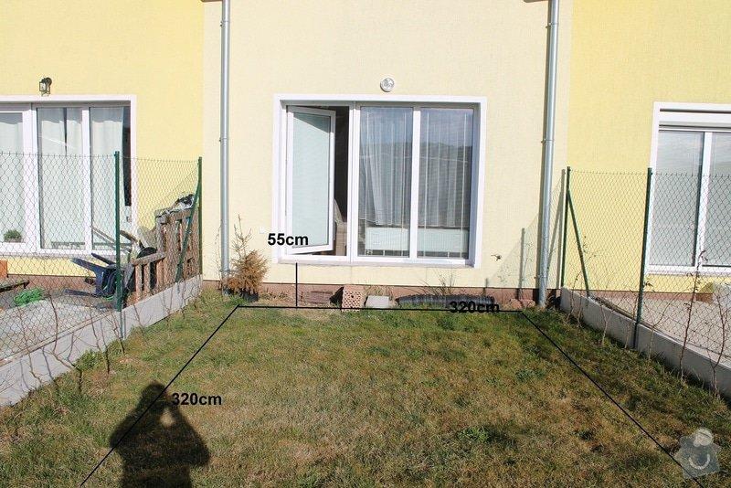 Zahradní terasa: dlažba ve štěrkovém loži: 3