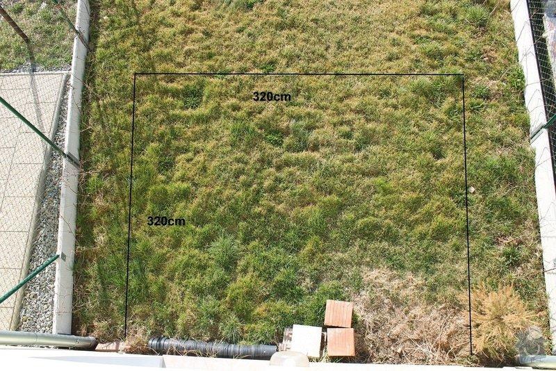 Zahradní terasa: dlažba ve štěrkovém loži: 1
