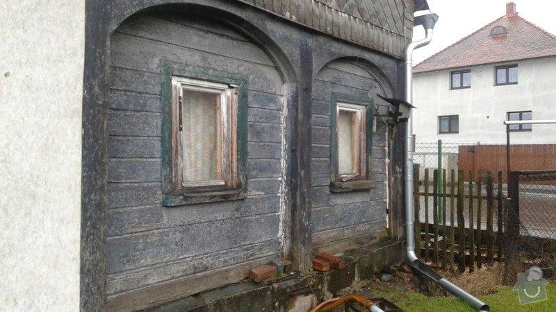 Rekonstrukce nebo vyzdění části podstávkového domku.: 20150330_154840