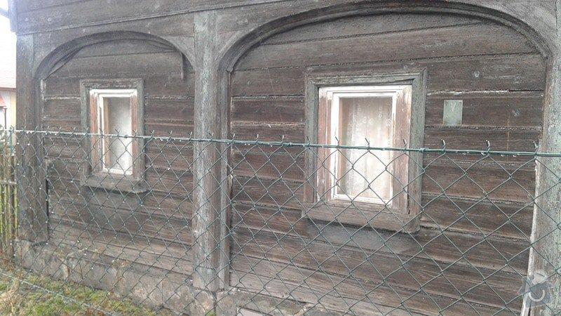 Rekonstrukce nebo vyzdění části podstávkového domku.: 20150330_155152