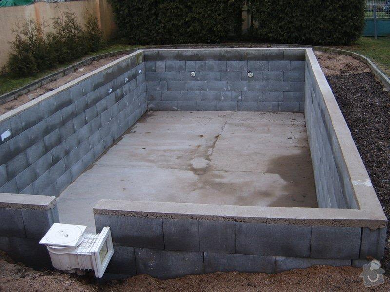 Operlinkování stěn betonového bazénu: S3700084