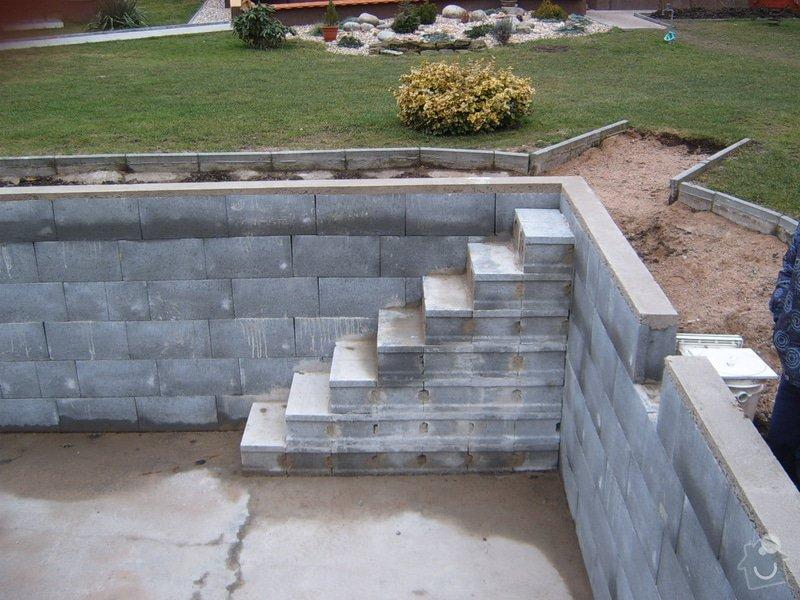 Operlinkování stěn betonového bazénu: S3700090