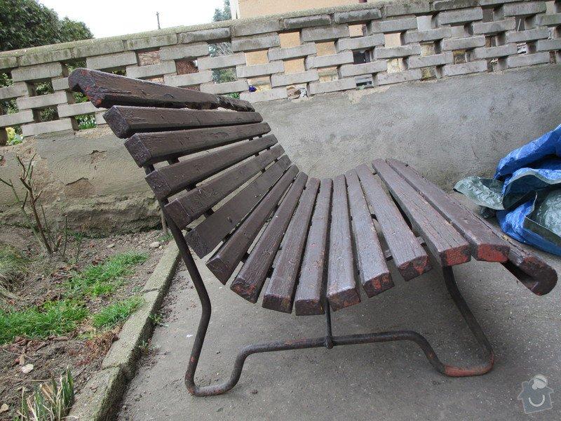 Oprava / renovace zahradního nábytku: lavicky_002