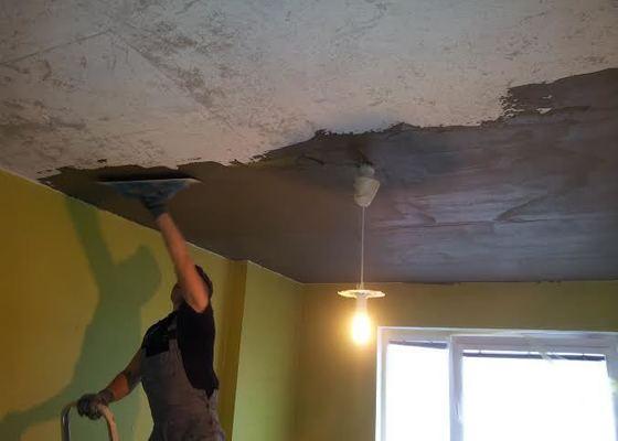 Oprava spadlého stropu + výmalba