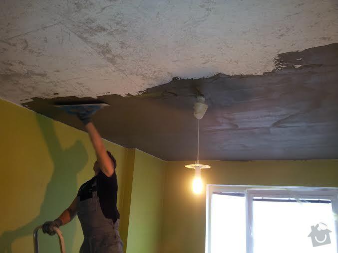 Oprava spadlého stropu + výmalba: strop2