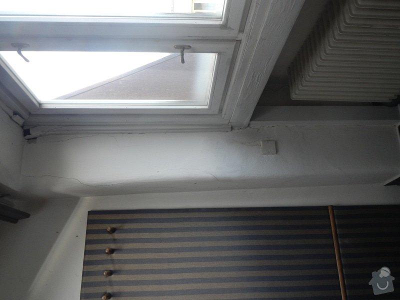 Obložení stěny a podhledu kolem okna: DSCN8260