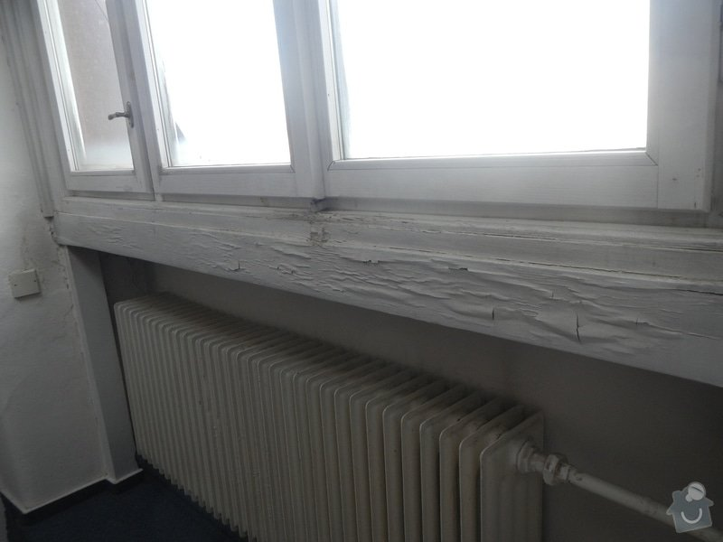 Obložení stěny a podhledu kolem okna: DSCN8263