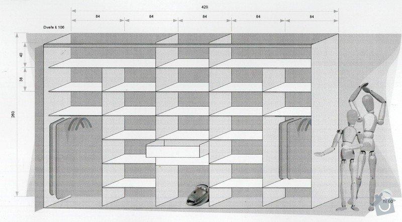 Vestavěná skříň: skrin_U2