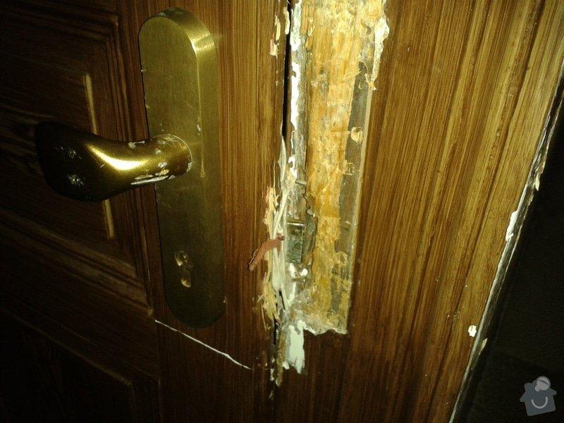 Oprava 2x dveře po vloupání: sklep