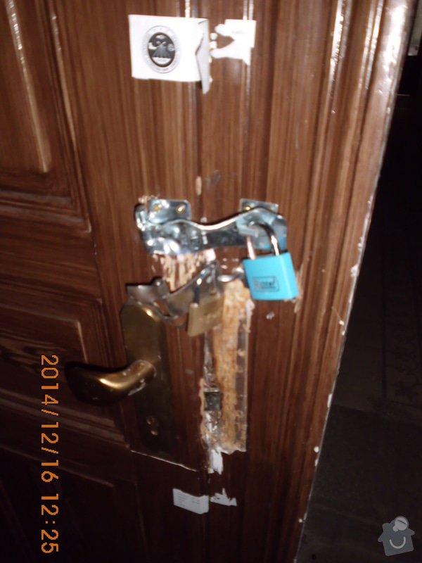 Oprava 2x dveře po vloupání: sklep2