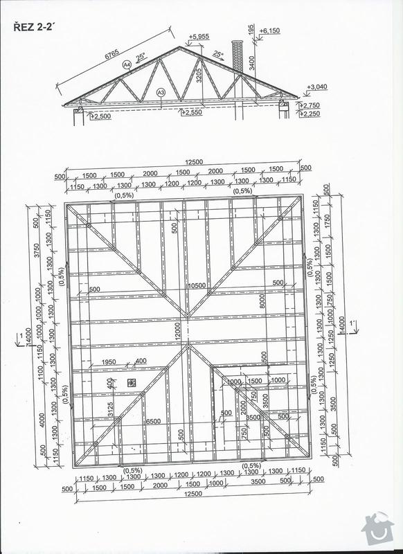 Vazníková střecha a plechová krytina: strecha_2a