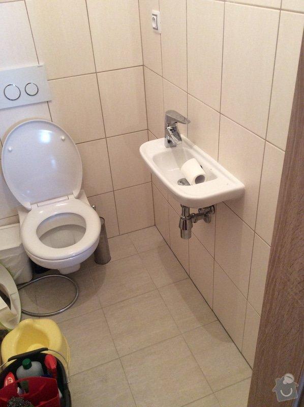 Skříňku pod koupelnové umyvadlo a skříňku pod malé umyvadlo na toaletě: zachod