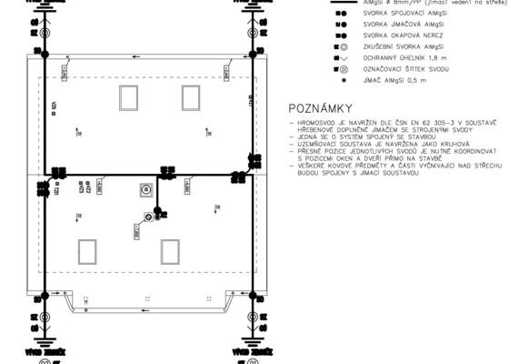 Zhotovení hromosvodu - bleskosvodu + revize