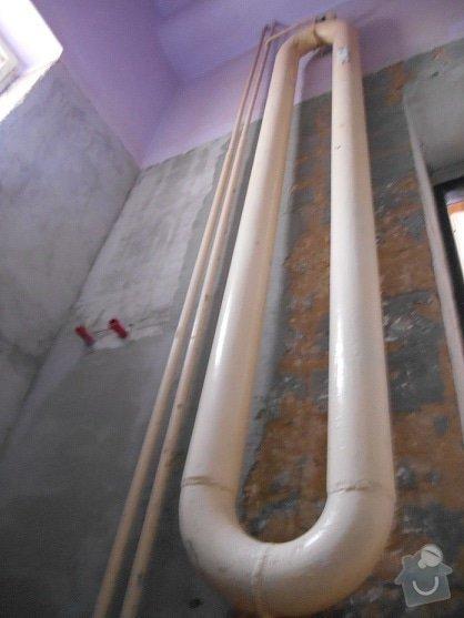 Montáž topného koupelnového žebříku: topeni