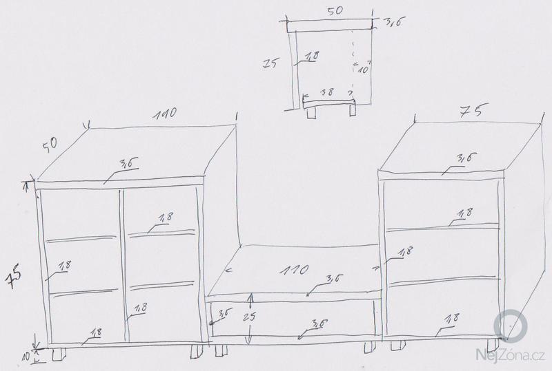Volně stojící skříňky: TV_stena