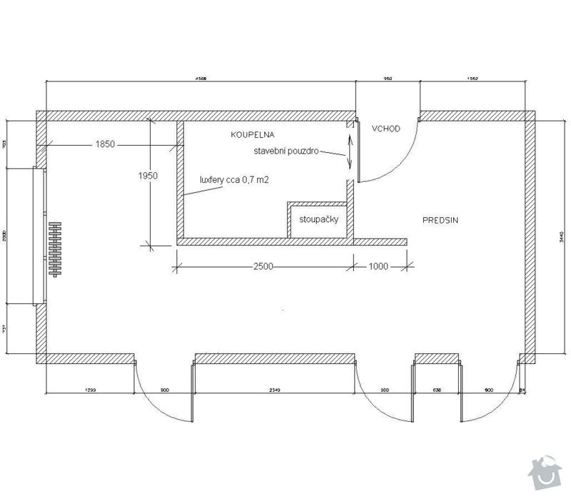 Rekonstrukce koupelnového jádra: koupelna