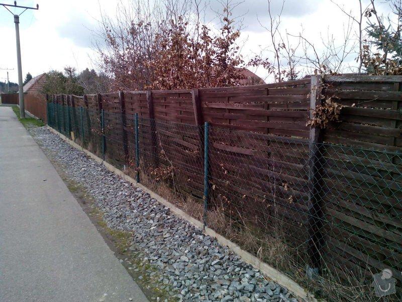 Výměna plotu z pletiva za dřevěné výplně: IMG_20150406_143417