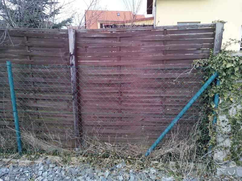 Výměna plotu z pletiva za dřevěné výplně: IMG_20150406_143414
