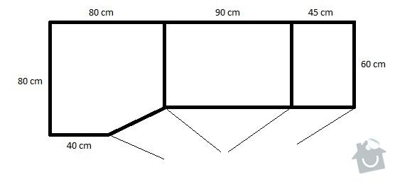 Skříň na chodbu: pudorys