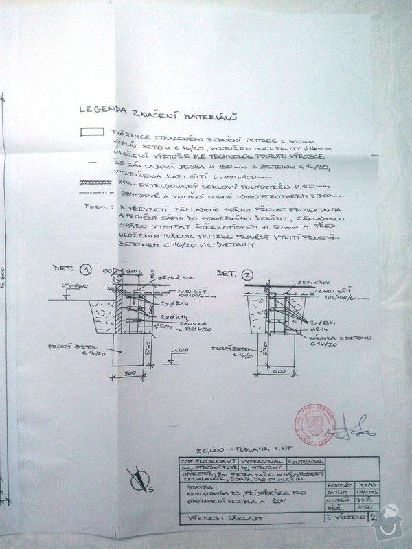 Zednické práce,vyzdění hrubé stavby: Pudorys_zakladu_legenda_p