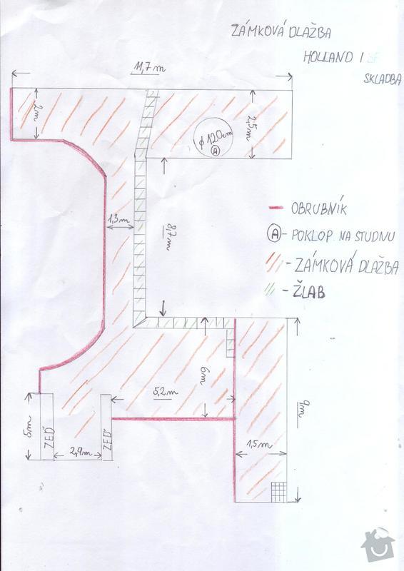 Pokládka zámkové dlažby dvora cca 100 m2: uctenky0001