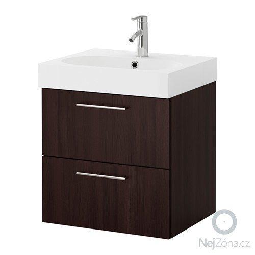 Zrcadlová skříňka do koupelny (galerka): godmorgon-braviken-umyvadlova-skrinka-se-zasuvkami-hneda__0327190_PE425835_S4