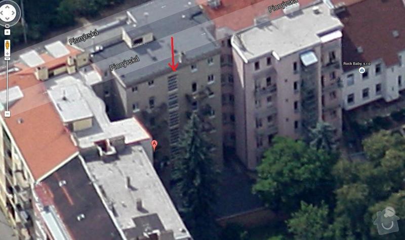 Zateplení fasády bytového domu / do dvorního traktu: pionyrska_21_ze_dvora_-_chceme_delat