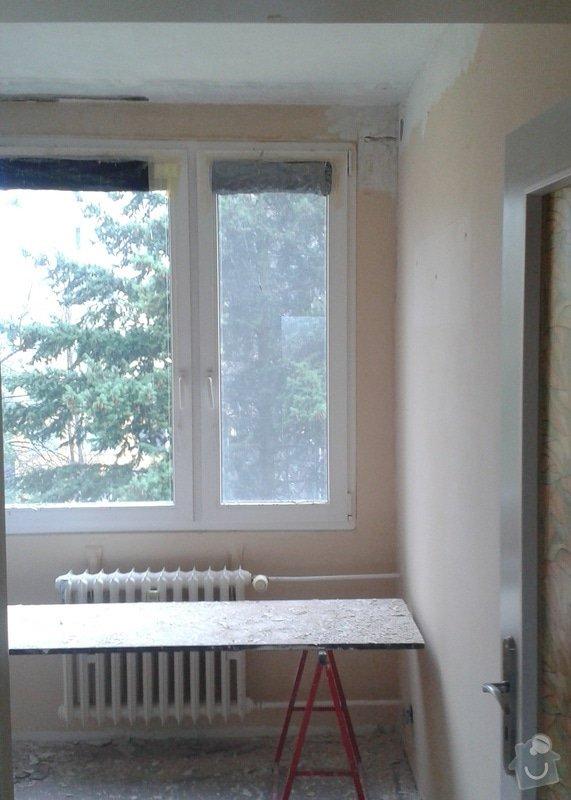 Štuky a vymalování v panelovém bytě: 02