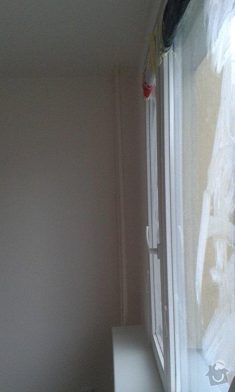 Štuky a vymalování v panelovém bytě: 07
