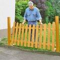 Montaz a dodavka nizkeho dreveneho plotu s brankou plot1