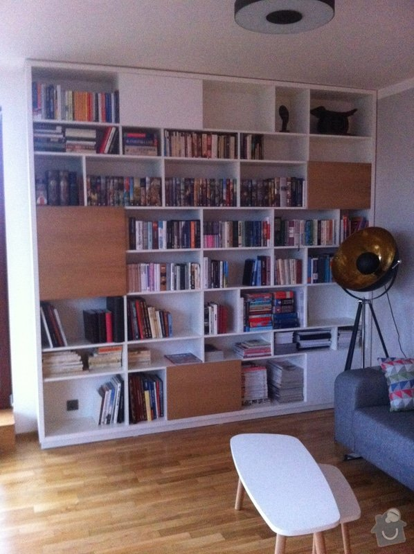Výroba knihovny a botníku na míru: IMG_7104
