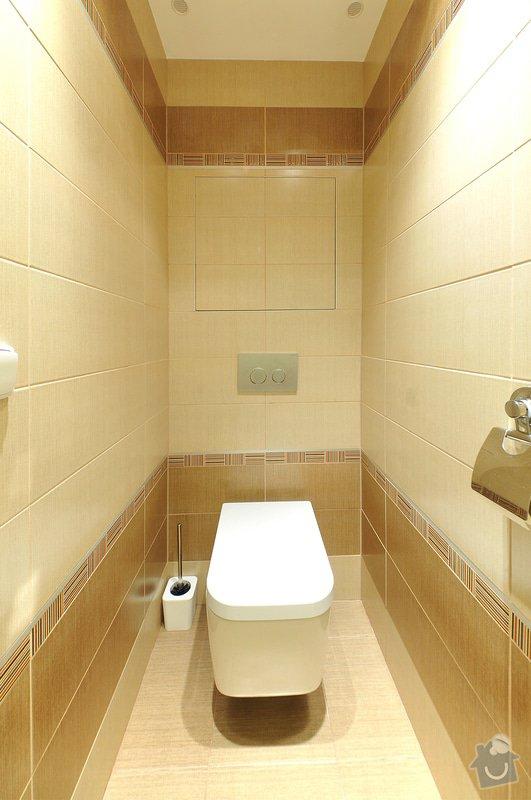 Rekonstrukce bytu 2+1: WC
