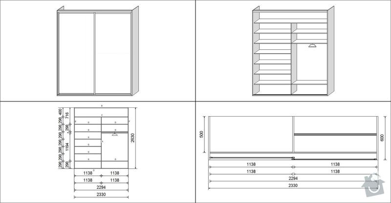 Zhotovení vestavěné skříně do ložnice : skrin