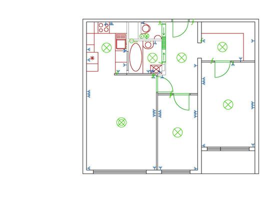 Částečná rekonstrukce bytu (jádro, podlahy, elektroinstalace, malířské práce)