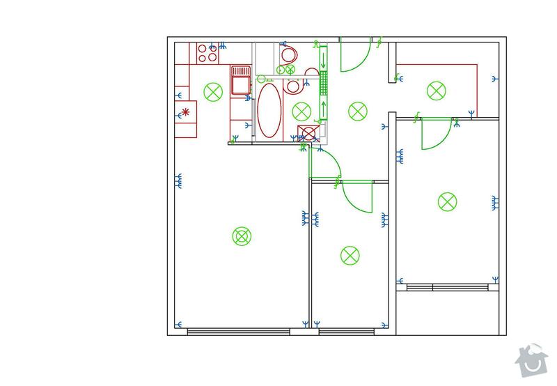 Částečná rekonstrukce bytu (jádro, podlahy, elektroinstalace, malířské práce): HAJPLICVYKRPOREKO