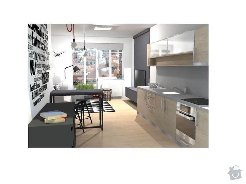 Návrh interiéru bytu 1+kk: Snimek1